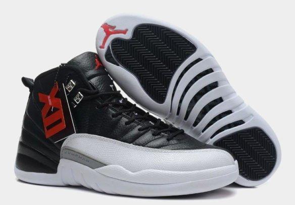 Фото Air Jordan 12 Retro Playoff черно-белые - 1